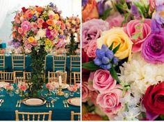 arranjos coloridos casamento - Pesquisa Google