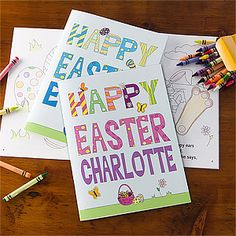 This personalized Easter coloring book is the perfect little gift for their Easter baskets! Their name is printed on the cover and inside pages - they'll think it's the coolest thing ever!