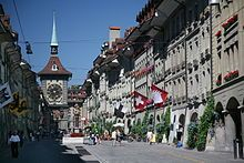 """""""The city of Bern or Berne is the Bundesstadt (federal city, de facto capital) of Switzerland, and, with (as of December 2010) a population of 133,920,[3] the fourth most populous city in Switzerland."""""""