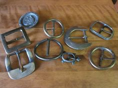 Macrame anyone? Collection of 7 Metal Buckles by MountainShine on Etsy, $15.00