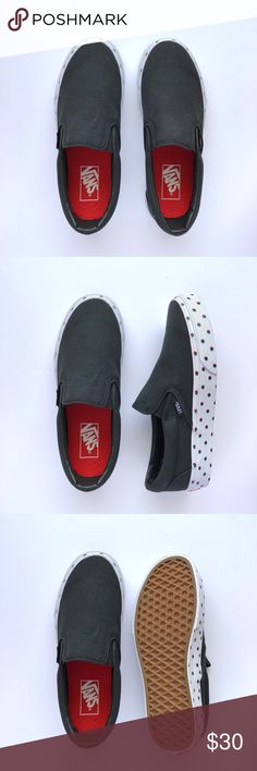 New 3D Polka Dot Slip-On Never been worn, black canvas with tri-color 3D polka dot print. W/O box. Women's size 7 / Men's size 5.5 Vans Shoes Sneakers