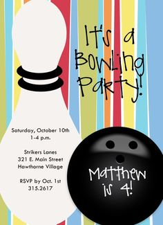 Bowling Birthday Party Invitation Wording Ideas  New Party Ideas