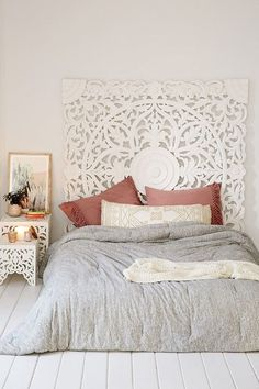 Grand Sienna Headboard - Urban Outfitters DIY Headboard Ideas that Will Make Your Bedroom Design Looks Gorgeous Dream Bedroom, Home Bedroom, Bedroom Decor, Bedroom Ideas, Master Bedrooms, Bedroom Inspiration, 1930s Bedroom, Target Bedroom, Bedroom Beach