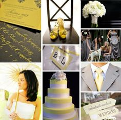#gray and #yellow Wedding Inspiration @Jennifer Campbell