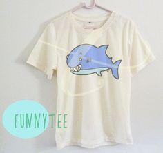 Funny shark shirt kids Short sleeve tee shirtsoff by TuesdayTee