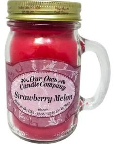 """Mason jar OUR OWN CANDLE COMPANY """"STRAWBERRY MELON"""""""