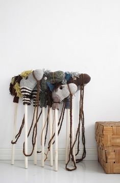 Hobbyhorses made of old socks (via @Liz Stanley)