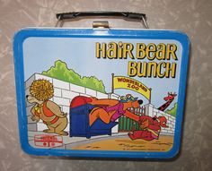 THE HAIR BEAR BUNCH VINTAGE METAL LUNCHBOX