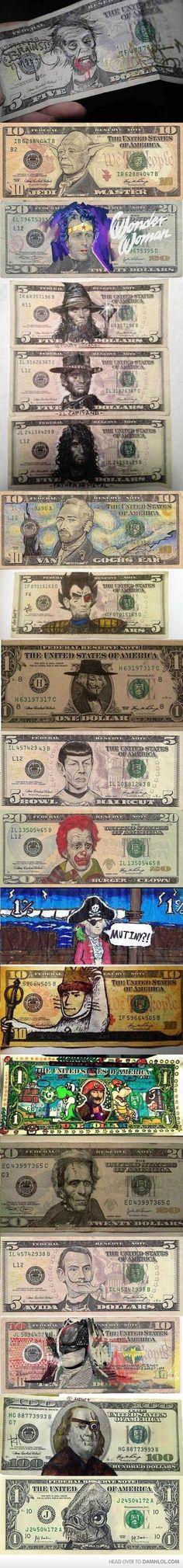 Money faces