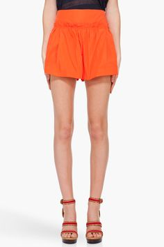 Marc by Marc Jacobs Orange Saatchi Shorts