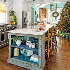 The Kitchen - Holiday Home Decorating - Southern Living