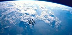 The International Space Station orbits the Earth as seen from the Atlantis space shuttle in Credit: NASA Earth And Space, Cosmos, Atlantis, Russian Space Station, Unbelievable Pictures, Amazing Photos, Space And Astronomy, Space Planets, Nasa Space