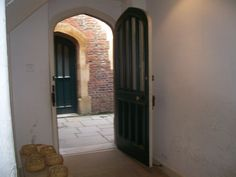 Hampton Court doorway from kitchens to back alley