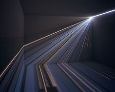 Chris Fraser's work with light is stunning. There is a gorgeous movement and sense of direction in each piece, reminiscent of mathematical vectors. I love the possibility of experiencing the same piece differently, and the way focus shifts from one plane