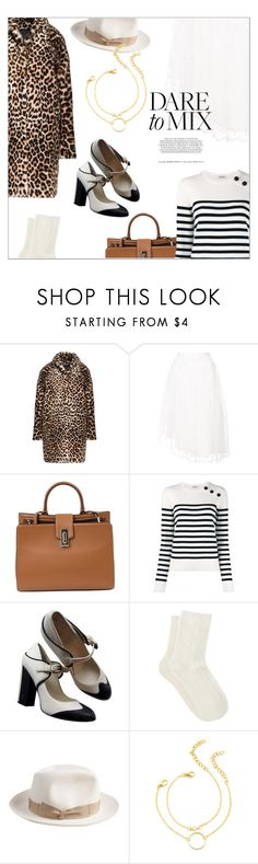 """Memories"" by laste-co ❤ liked on Polyvore featuring Sandro, Simone Rocha, Marc Jacobs, Yves Saint Laurent, Chanel, MANGO and Borsalino"