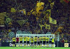 Borussia Dortmund fans v Liverpool fans: 15 fantastic pictures.: Borussia Dortmund fans v Liverpool fans: