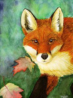 Fox in autumn.