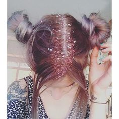 Spacebuns and Glitter Roots by onnedi