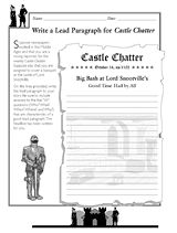 Castle Mini Lesson - Roving Reporter Worksheet, Grades 6-8