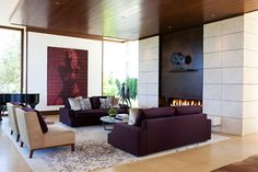 Romantic And Warm Living Room Decorating Ideas - Romantic Living Room, Living Room Modern, Living Room Decor, Living Rooms, Interior Design Portfolios, Interior Minimalista, Family Room Design, Family Rooms, Fireplace Design