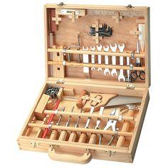 BOITE A OUTILS de L'ATELIER DU BOIS chez Jouéclub 29.99 € Tool Box Talks, Bit Box, Tool Storage, Diy Storage, Woodworking Tools, Garage Jouet, Cupboard, Cabinet, Tool Tote