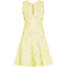Herve Leger Vitoria Sunburst Knotted Lacing Rings Dress (14,980 CAD) ❤ liked on Polyvore featuring dresses, lace up dress, knot dress, white mesh dress, woven dress and mesh dress