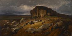 "Jean-Achille Benouville: ""Landscape with Buffalo"" vers 1865-68 Walters Art Museum:"