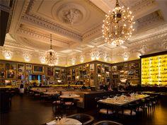 Awesome Berner's Tavern, London, England. Jason Atherton's upmarket Modern British restaurant in Ian Schrager's London Edition Hotel.