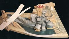 The Guggenheim museum in Bilbao Spain 1991-1997, is one of Gehry's most known buildings. (Model view from above)