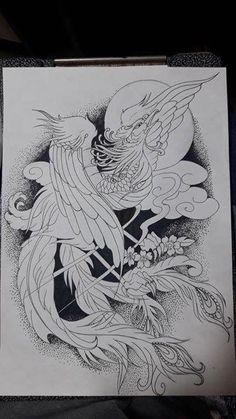 Tattoo Sleeve Ideas Drawings Inspiration Birds Ideas For 2019 Japanese Phoenix Tattoo, Small Phoenix Tattoos, Phoenix Tattoo Design, Japanese Tattoo Art, Time Tattoos, Body Art Tattoos, Sleeve Tattoos, Tattoo Sketches, Tattoo Drawings