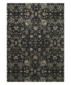 Black & Silver Abstract Journey Wool-Blend Rug