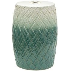 Shop for Carved Woven Design Porcelain Garden Stool (China). Get free delivery at Overstock.com - Your Online Garden