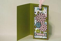 Card with Detachable Bookmark Tutorial - Splitcoaststampers
