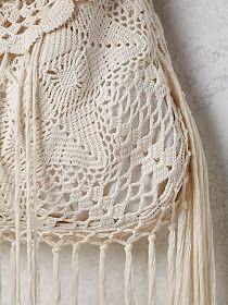 "Photo from album ""Сумка Desert Crochet Bag"" on Yandex. Crochet Handbags, Crochet Purses, Knit Crochet, Crochet Hats, Net Bag, Bohemian Accessories, Macrame Bag, Boho Bags, Knitted Bags"