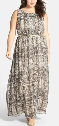 Fun print! Perfect maxi dress for spring.