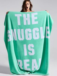 """PINK """"THE SNUGGLE IS REAL"""" Soft Sherpa Blanket"""