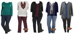 Mix and Match Plus Size Fashion Jewel Tones Plus Size Capsule Wardrobe, Fall Capsule Wardrobe, My Wardrobe, Plus Size Fall, Fashion And Beauty Tips, Plus Size Outfits, Plus Size Fashion, What To Wear, Jewel Tones