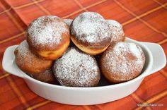 Gogosi pufoase reteta de la bunica | Savori Urbane Romanian Desserts, Dough Recipe, No Bake Cake, Finger Foods, Baking Recipes, Recipies, Deserts, Bread, Sweet