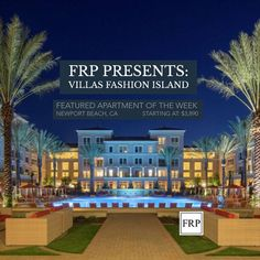 Featured apartment and client of the week: The Villas Fashion Island. This resort style living features: 5 salt water pools, a cafe, weekend guest valet, a shuttle service to fashion island, exclusive resident events, and much more. #luxuryrealestate #luxury #business #startups #apartment #apartmentliving #rentals #freemembership #localrealtors - posted by  https://www.instagram.com/fordrentalproperties - See more Real Estate photos from Local Realtors at https://LocalRealtors.com
