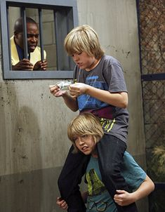 Cole Sprouse as Cody and Dylan Sprouse as Zack