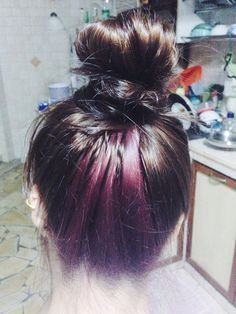 Image result for hair color underneath
