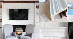 hiding eyesores home - tv cords Hide Tv Cords, Hide Wires, Small Cupboard, Hidden Tv, Home Tv, Wall Outlets, Wall Mounted Tv, New House Plans, Just In Case