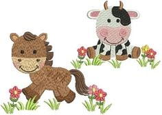 Farm Animals Set, 10 Designs - 4x4 | What's New | Machine Embroidery Designs | SWAKembroidery.com