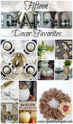 15 Fall Decor Favorites - www.refashionablylate.com