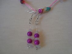 CHEAPLY PRICED. $35.00. FREE NECKLACE WITH EVERY PURCHASE! Silver-Plated / Genuine Gemstone / Delica / Glass Bead Earrings.  Earrings come with matching necklace which they are suspended from.  https://www.etsy.com/ca/shop/JehovahJJewellery?ref=si_shop