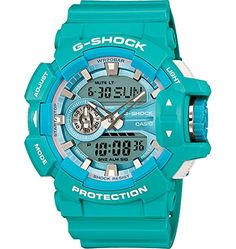 GShock GA400A2A Stylish Watch  Baby Blue  One Size ** For more information, visit image link.