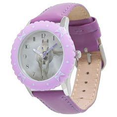 #beauty - #Beautiful white horse in mist wrist watch