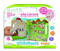 Knights and their Castle Stickabouts Play Set. 35 fabulous Pirate Themed Rubbery Stickers plus a Castle designed playboard.  http://www.4littlepeople.co.uk/knight-stickabouts/