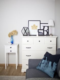 Use the tops of furniture as an extra space to create displays. Mix plants, glassware, prints and lighting for a varied display. More ideas at IKEA.com #IKEAIDEAS