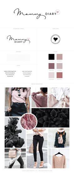 Blog Design of Mommy Diary, branding and blog design for motherhood blog - logo design, wordpress theme, mood board inspiration, blog design idea, graphic design, branding